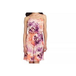 Calvin Klein Jeans purple orange floral dress